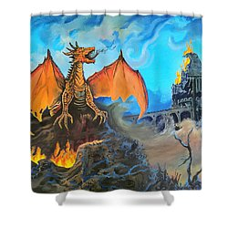 Shower Curtain featuring the painting Straight To The Casttttle by Kevin F Heuman