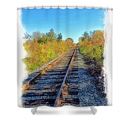 Shower Curtain featuring the photograph Straight Track by Constantine Gregory