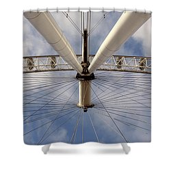 Straight Up London Eye Shower Curtain