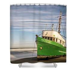 Stranded On The Beach Shower Curtain