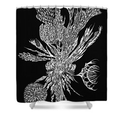 Bouquet Of Curiosity Shower Curtain by Charles Cater