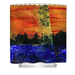 Strange City Shower Curtain