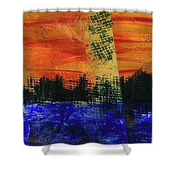 Strange City Shower Curtain