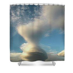 Strange Cloudform Shower Curtain