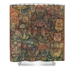 Strange Garden Shower Curtain by Paul Klee