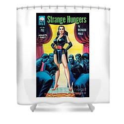 Shower Curtain featuring the painting Strange Hungers by Eric Stanton