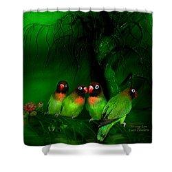 Strange Love Shower Curtain by Carol Cavalaris