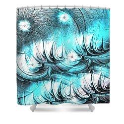 Shower Curtain featuring the digital art Strange Things by Anastasiya Malakhova