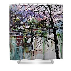 Strange Tree Shower Curtain