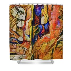 Strangers In The Night Shower Curtain