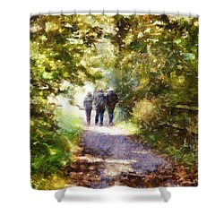 Strangers On A Footpath / In To The Light Shower Curtain