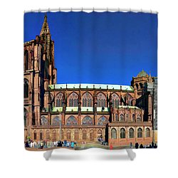 Strasbourg Catheral Shower Curtain by Alan Toepfer