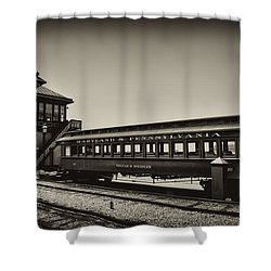 Strasburg Rail Road Shower Curtain by Bill Cannon