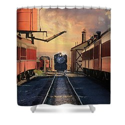 Shower Curtain featuring the photograph Strasburg Railroad Station by Lori Deiter