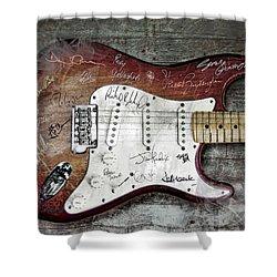Strat Guitar Fantasy Shower Curtain