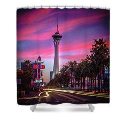 Strat Sunset Shower Curtain