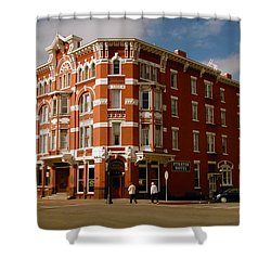 Strater Hotel 1887 Shower Curtain by David Lee Thompson