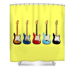 Stratocaster Shower Curtain by Mark Rogan