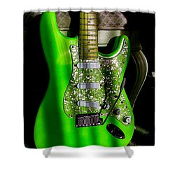 Stratocaster Plus In Green Shower Curtain