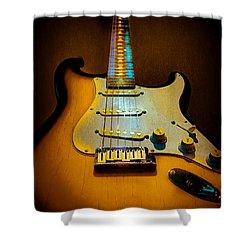 Stratocaster Tobacco Burst Glow Neck Series  Shower Curtain