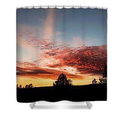 Stratocumulus Sunset Shower Curtain by Jason Coward