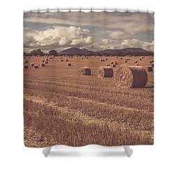 Straw Bales In A Field 4 Shower Curtain