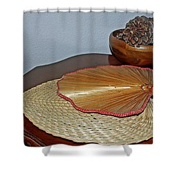 Shower Curtain featuring the photograph Straw Fans by Judy Vincent
