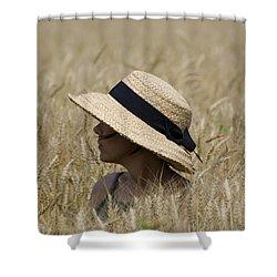 Straw Hat Shower Curtain