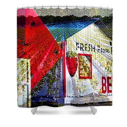 Strawberries Fresh From The Field Shower Curtain by David Lee Thompson