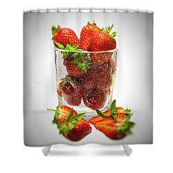 Strawberry Dessert Shower Curtain