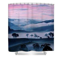 Strawberry Fields Shower Curtain by Az Jackson