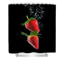 Strawberry Falls Shower Curtain