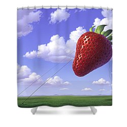 Strawberry Field Shower Curtain by Jerry LoFaro