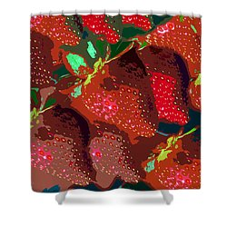Strawberry Fields Forever Shower Curtain by David Lee Thompson