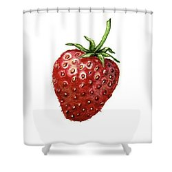 Shower Curtain featuring the painting Strawberry by Heidi Kriel