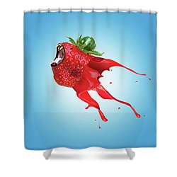 Shower Curtain featuring the photograph Strawberry by Juli Scalzi