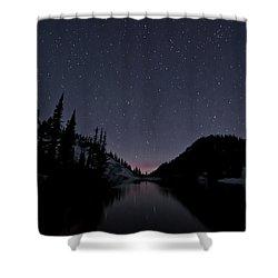 Strawberry Lake Shower Curtain