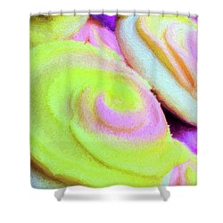 Strawberry Lemonade Cookies Shower Curtain