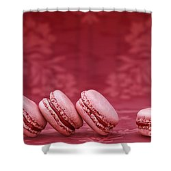 Strawberry Macarons Shower Curtain