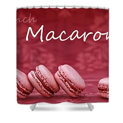 Strawberry Macaroons Shower Curtain
