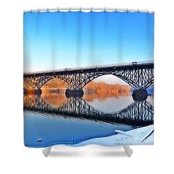 Strawberry Mansion Bridge  Shower Curtain by Bill Cannon