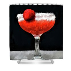 Shower Curtain featuring the photograph Strawberry Margarita by Lois Bryan