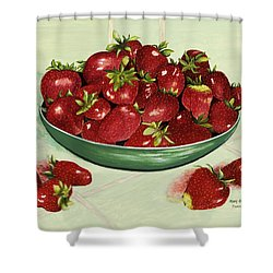 Strawberry Memories Shower Curtain