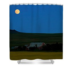 Strawberry Moon Shower Curtain