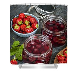 Strawberry Preserve Shower Curtain by Elena Elisseeva