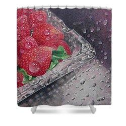 Strawberry Splash Shower Curtain