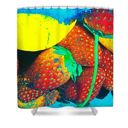 Strawberry Sun  Shower Curtain