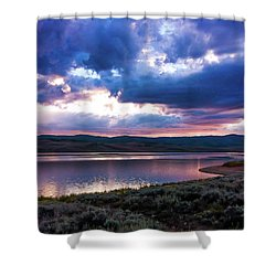 Shower Curtain featuring the photograph Strawberry Sunset by Bryan Carter