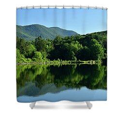 Streak Of Light At The Lake Shower Curtain