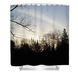 Shower Curtain featuring the photograph Streaks Of Clouds In The Dawn Sky by Kent Lorentzen